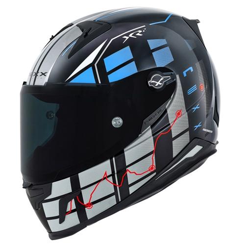 CAPACETE NEXX XR2 VIRUS BLUE Tri-Composto   - Planet Bike Shop Moto Acessórios