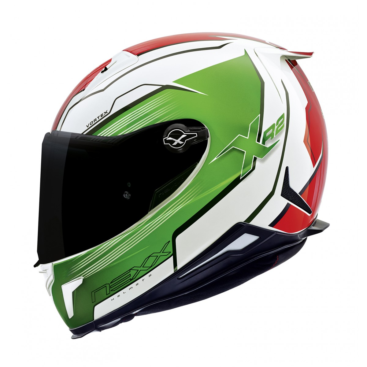 Capacete Nexx XR2 Vortex Verde Itália Tri-Composto - BLACK FRIDAY