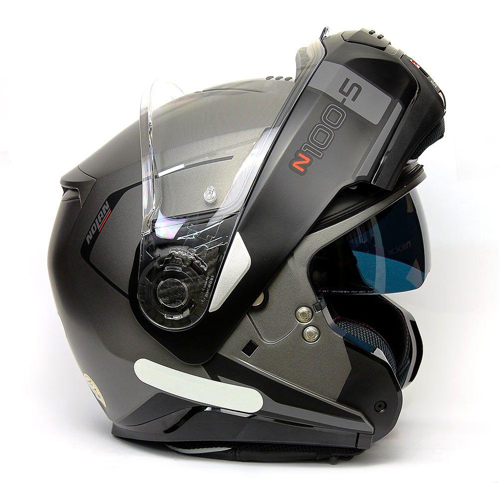 Capacete Nolan N100-5 Consistency Black - 24 Escamoteável