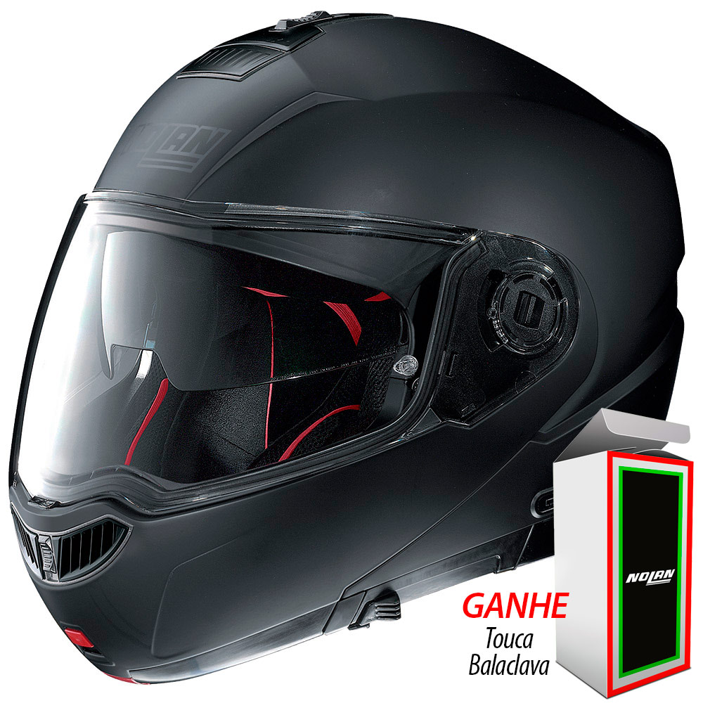 CAPACETE NOLAN N104 ABSOLUT CLASSIC - Flat Black - Ganhe Balaclava  Exclusiva! - Planet Bike ... 9335b9b6ac7