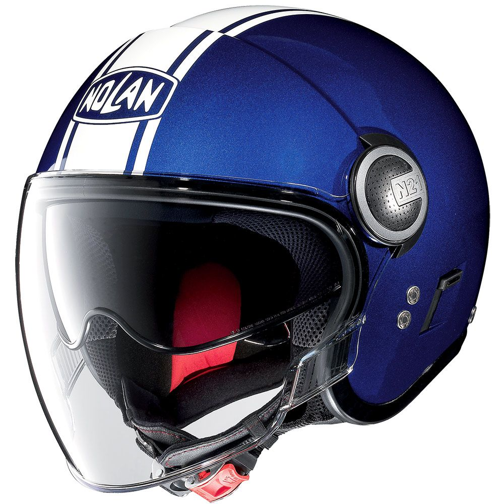 Capacete Nolan N21 Visor Duetto Azul (Com Óculos Interno)