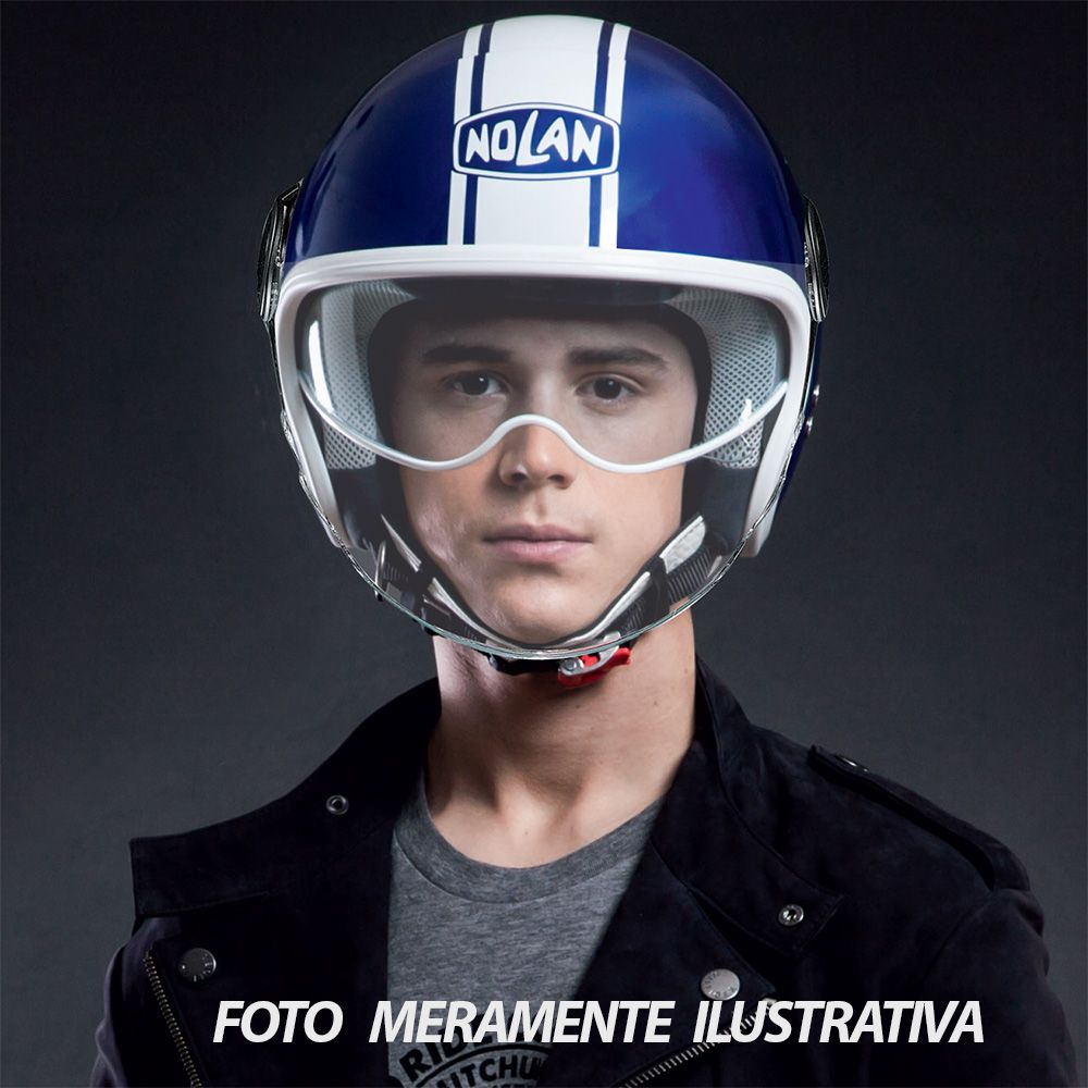 Capacete Nolan N21 Visor Duetto Azul (Com Óculos Interno)   - Planet Bike Shop Moto Acessórios