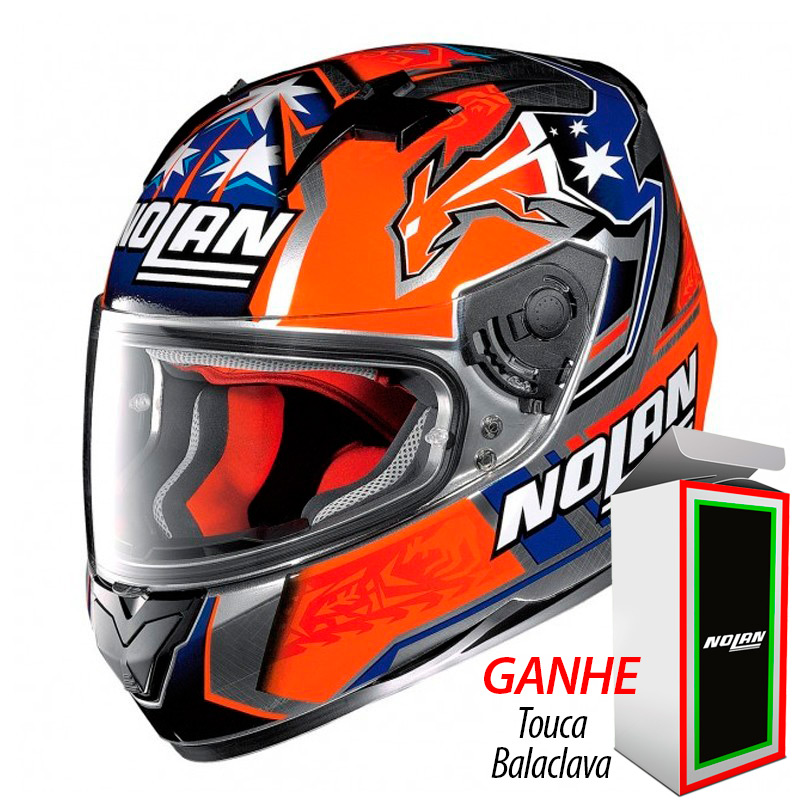 Capacete Nolan N64 Gemini Réplica Stoner Suzuka Scratched Chrome - Ganhe Balaclava Exclusiva!  - Planet Bike Shop Moto Acessórios
