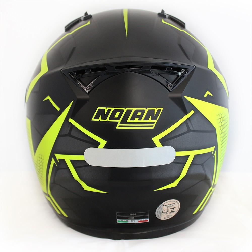 Capacete Nolan N64 Hexagon Flat Black   - Planet Bike Shop Moto Acessórios