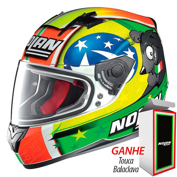 Capacete Nolan N64 Réplica Melandri Misano Cor: 65 - Ganhe Balaclava - Mês do Motociclista  - Planet Bike Shop Moto Acessórios