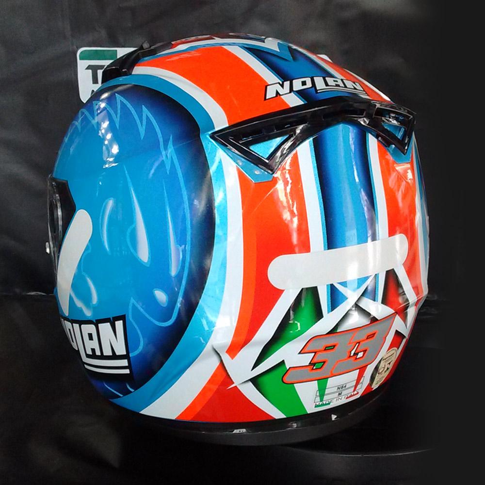 Capacete Nolan N64 Réplica Melandri Pearl Blue Cor: 64 - Ganhe Balaclava Exclusiva!  - Planet Bike Shop Moto Acessórios