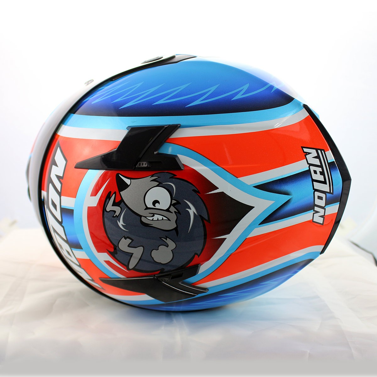 Capacete Nolan N64 Réplica Melandri Pearl Blue   - Planet Bike Shop Moto Acessórios