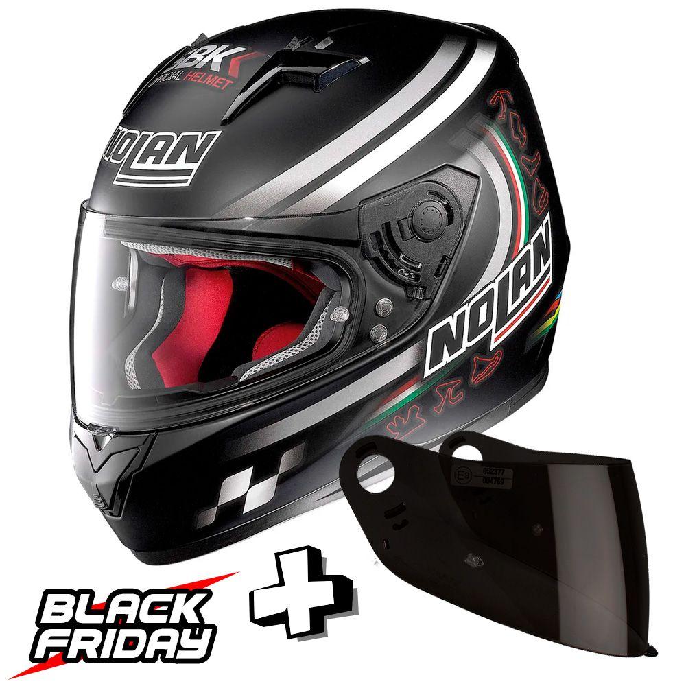 Capacete Nolan N64 Superbike Flat Black - GANHE VISEIRA FUMÊ - BLACK FRIDAY  - Planet Bike Shop Moto Acessórios