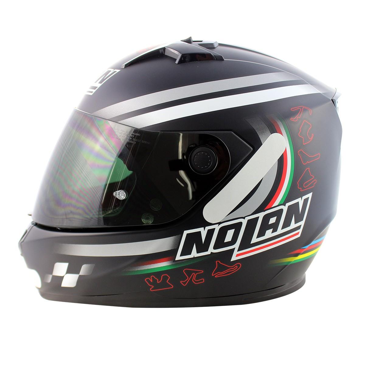 Capacete Nolan N64 Superbike SBK Flat Black - GANHE VISEIRA FUMÊ - BLACK FRIDAY