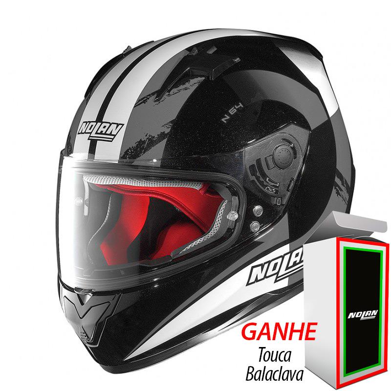 Capacete Nolan N64 Twirl Metal Black   - Planet Bike Shop Moto Acessórios