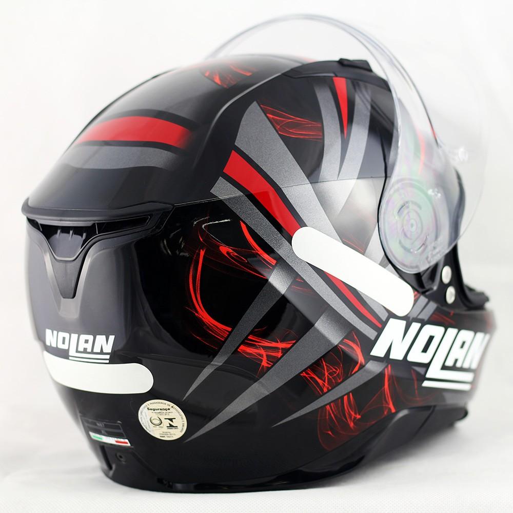 Capacete Nolan N87 Ledlight Glossy Red (COM VÍDEO) Ganhe Balaclava Exclusiva!  - Planet Bike Shop Moto Acessórios