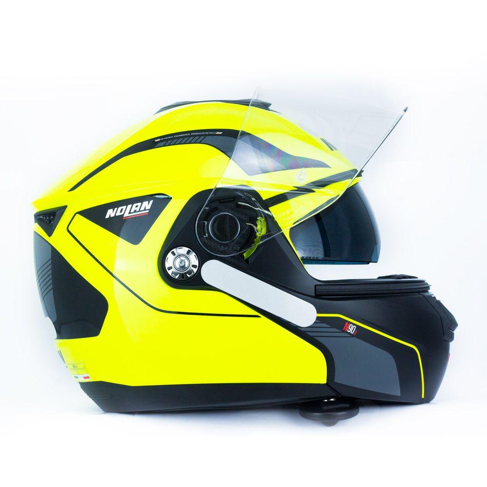 Capacete Nolan N90 Straton Amarelo Escamoteável Com Óculos Interno (Acompanha Pinlock)  - Planet Bike Shop Moto Acessórios