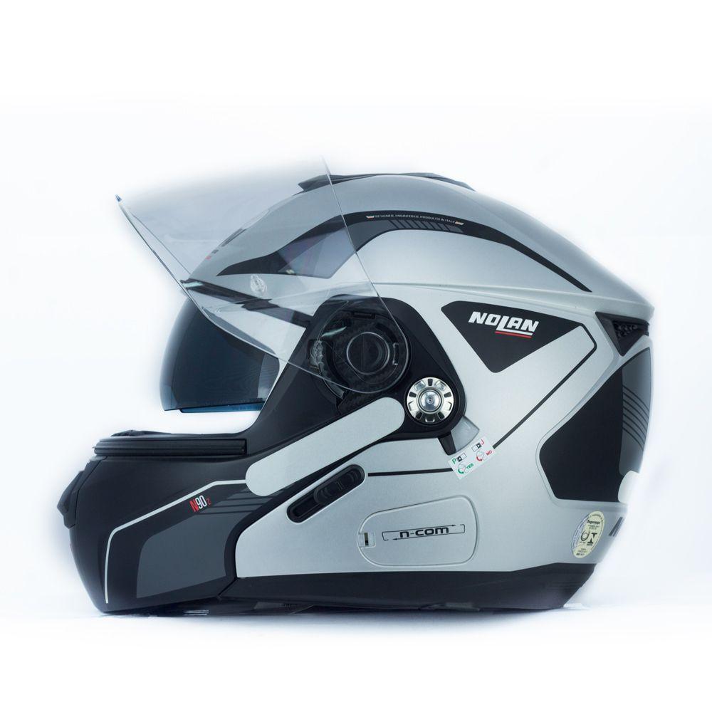 Capacete Nolan N90 Straton Cinza Escamoteável Com Óculos Interno - (Acompanha Pinlock)  - Planet Bike Shop Moto Acessórios