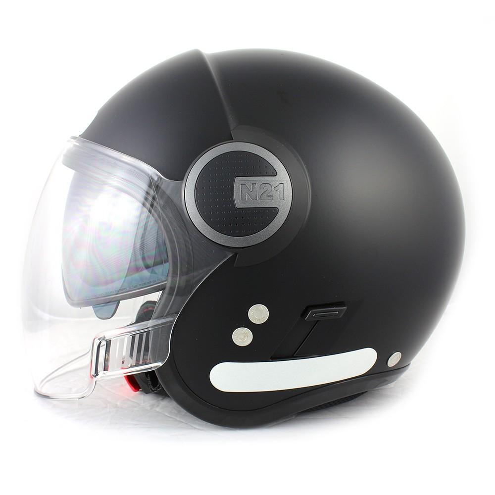 Capacete Nolan Visor N21 Flat Black Cor 10 (Com Óculos interno)  - Planet Bike Shop Moto Acessórios