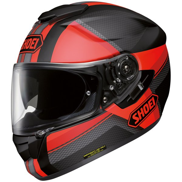 0 Capacete Shoei GT-Air Exposure TC1 Black/Red com Pinlock e Viseira Solar