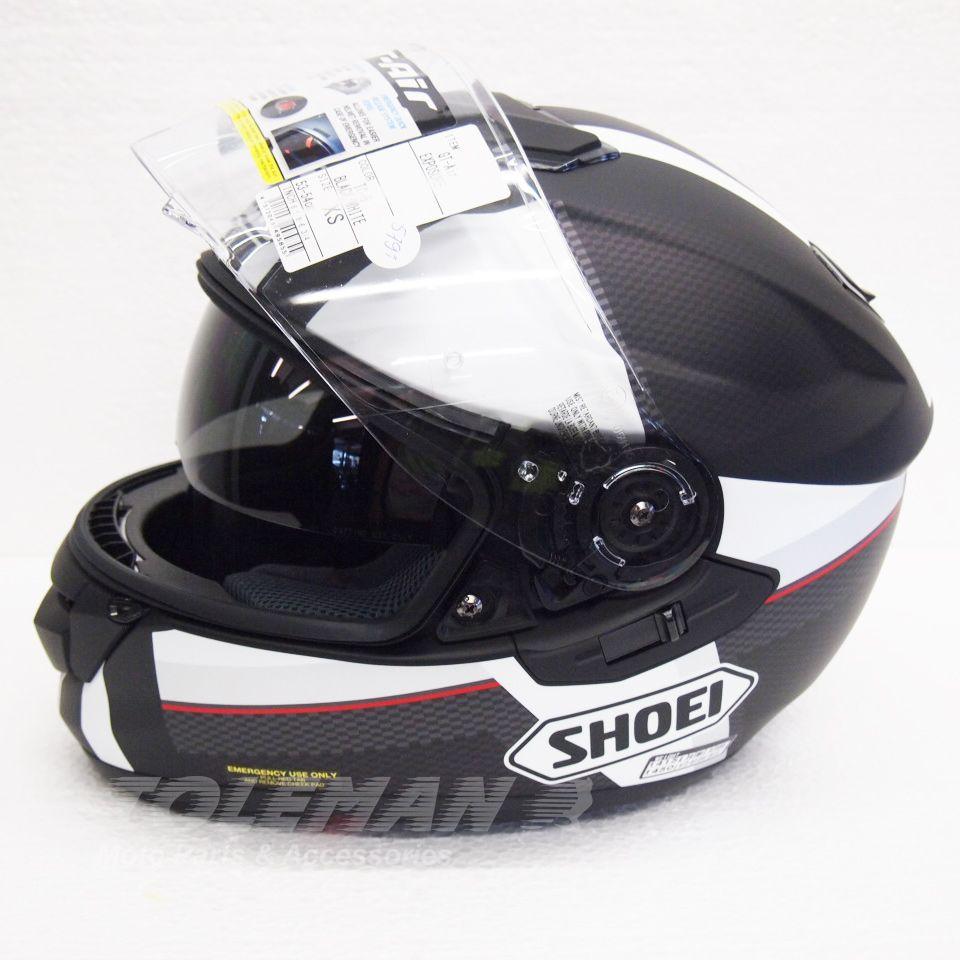 Capacete Shoei GT-Air Exposure TC5 White/Black com Pinlock e Viseira Solar   - Planet Bike Shop Moto Acessórios