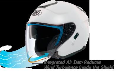 Capacete Shoei J-Cruise Branco  - Planet Bike Shop Moto Acessórios