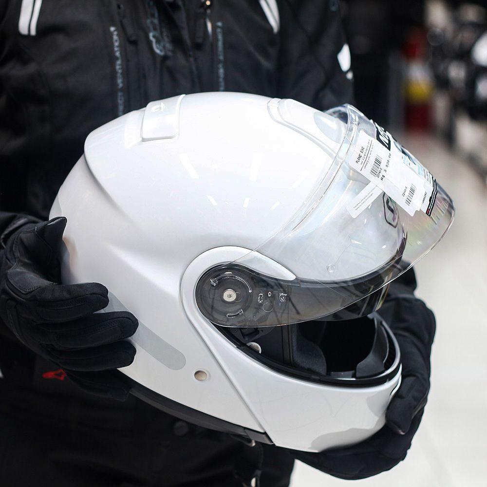 Capacete Shoei Neotec Branco (escamoteável)   - Planet Bike Shop Moto Acessórios