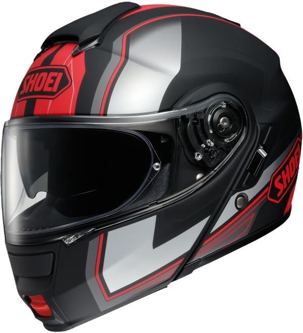 Capacete SHOEI Neotec Imminent TC-1 Vermelho Fosco - Mês do Motociclista