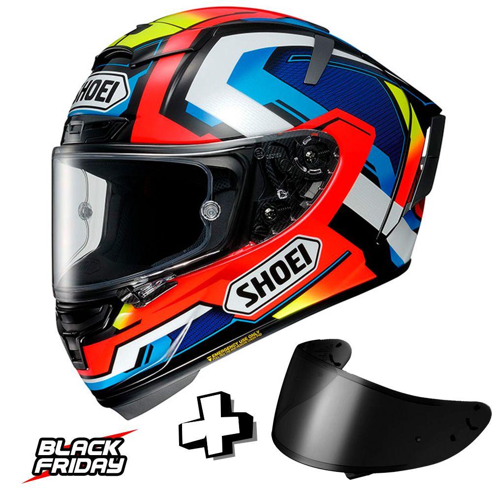 Capacete Shoei X-Spirit 3 Brink - Ganhe uma Viseira Shoei CWR -1 Fumê - Black Friday