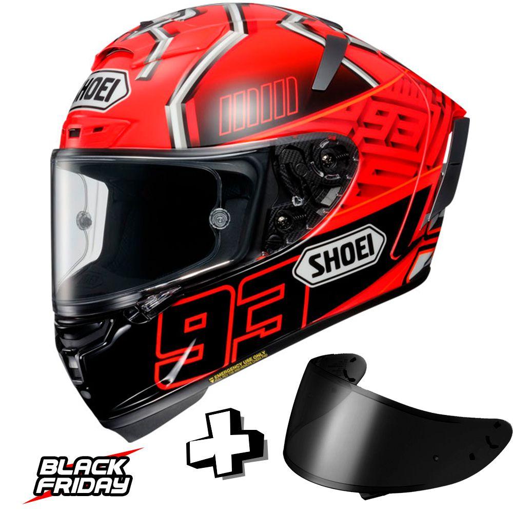 Capacete Shoei X-SPIRIT 3 - Marquez 4 TC-1 - Ganhe uma Viseira Shoei CWR -1 Fumê - Black Friday