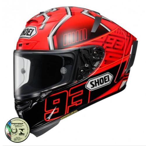 Capacete Shoei X-SPIRIT 3 - Marquez 4 TC-1   - Planet Bike Shop Moto Acessórios