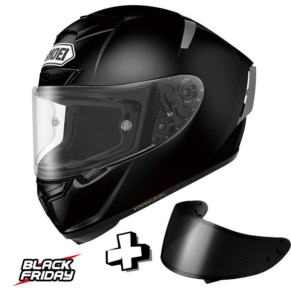 Capacete Shoei X-Spirit 3 Preto Fosco - Ganhe uma Viseira Shoei CWR -1 Fumê - Black Friday