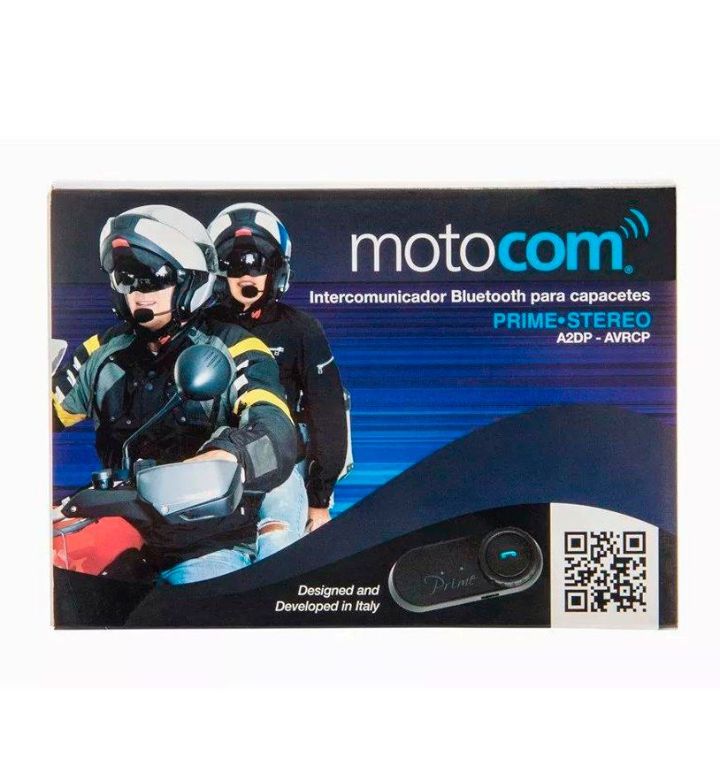 Intercomunicador Bluetooth Para Capacetes Motocom - Prime Estéreo - 01 unid.