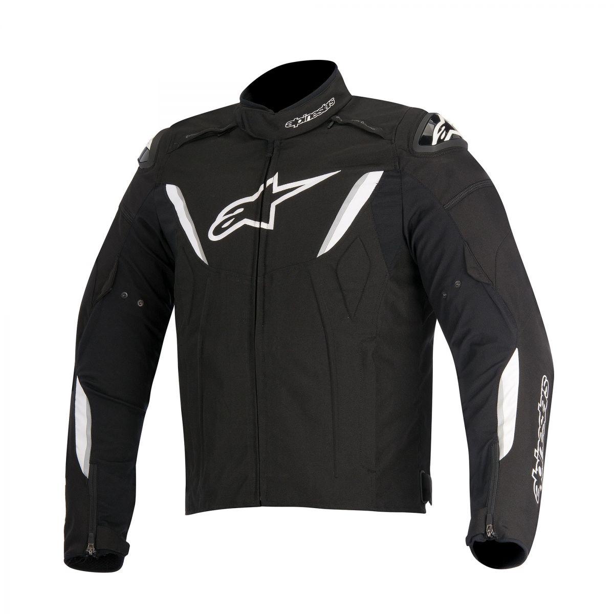 Jaqueta Alpinestars T-GP R (Black/ White) IMPERMEÁVEL LANÇAMENTO!  - Planet Bike Shop Moto Acessórios