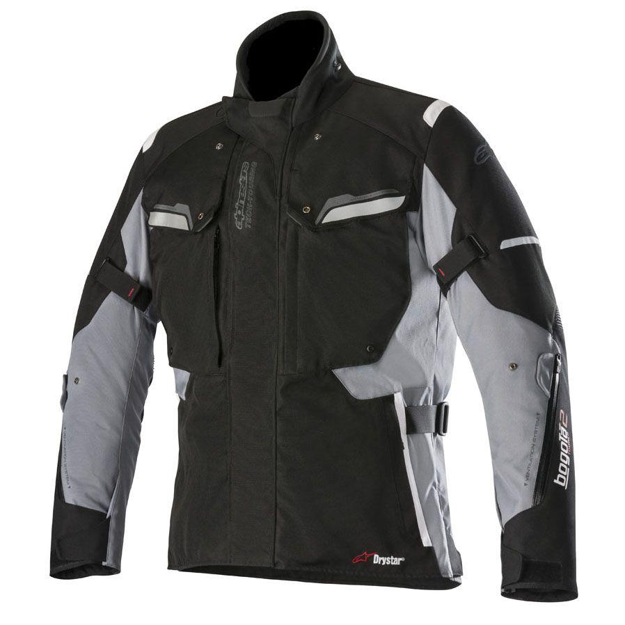 Jaqueta Bogota V2 Drystar® (Preto / Cinza) LANÇAMENTO!!!  - Planet Bike Shop Moto Acessórios