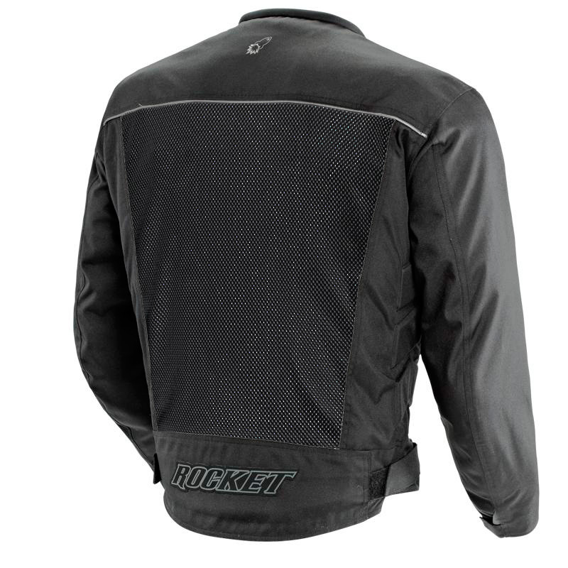 Jaqueta Joe Rocket Velocity Preta - Ventilada e Impermeável - Mês do Motociclista  - Planet Bike Shop Moto Acessórios