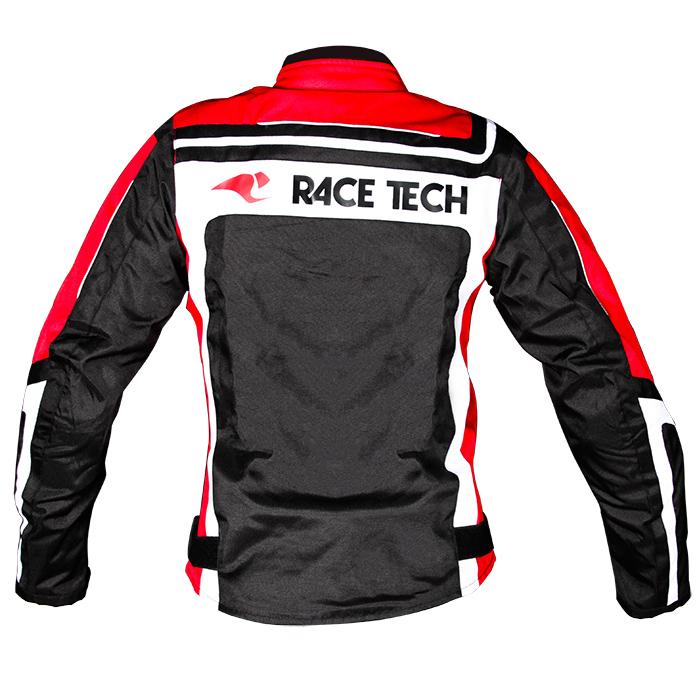 Jaqueta Race Tech Imola Lady Black / Red / White  - Planet Bike Shop Moto Acessórios