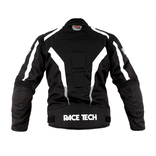 Jaqueta Race Tech Racer II Black/ White  - Planet Bike Shop Moto Acessórios