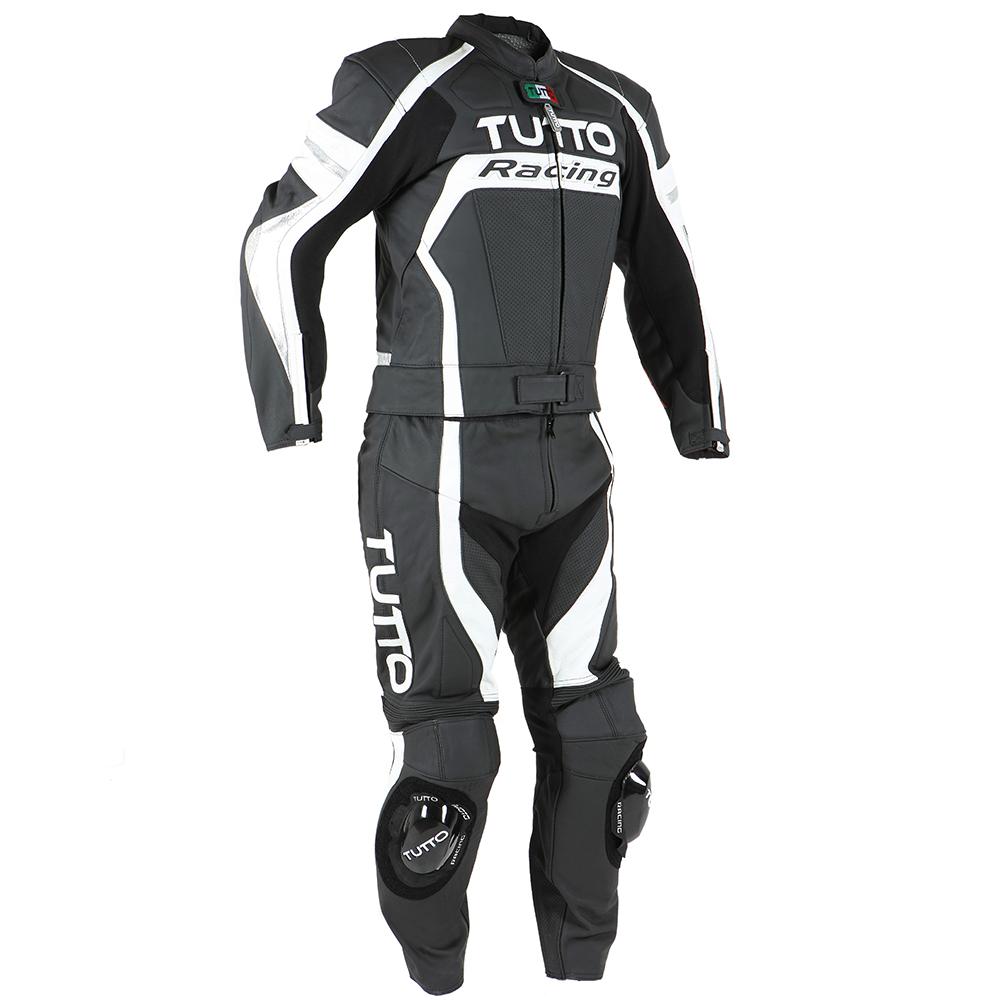 Macacão Tutto Moto Racing 2 pçs Branco c/ Prata