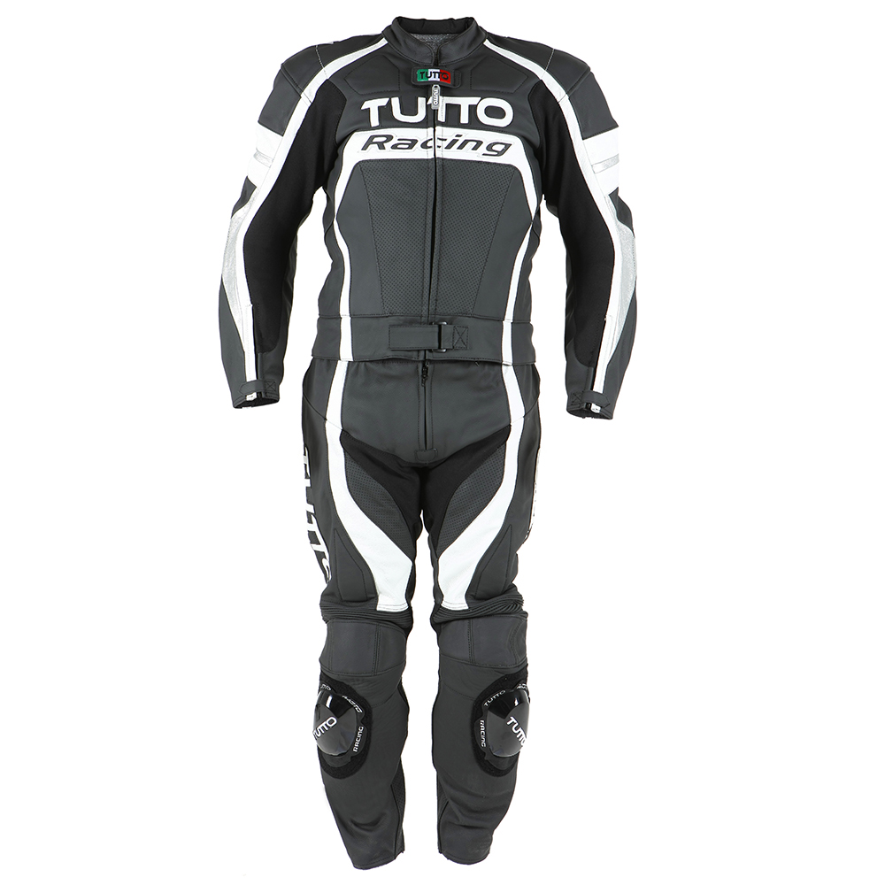 Macacão Tutto Moto Racing 2 pçs Branco c/ Prata   - Planet Bike Shop Moto Acessórios