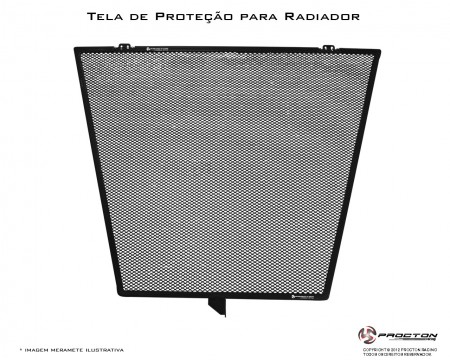 protetor de radiador Procton Yamaha XJ6 F LANÇAMENTO