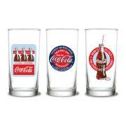 Jogo de Copos Coca-Cola 3 peças