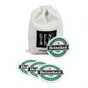 Jogo de porta-copos (bolachas) em Borracha Heineken