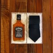 Kit Para Padrinhos Jack Daniel's 200ml e Gravata (Modelo 4)