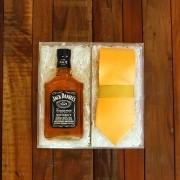 Kit Para Padrinhos Jack Daniel's 200ml e Gravata (Modelo 7)