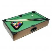 Mini Jogo de Snooker (Sinuca / Bilhar) 51x31x9 cm - Tabletop