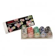 Rack em Acrílico com 100 Fichas para Poker - Texas Hold'em Deluxe