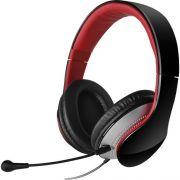 Headset com ALCA e Microfone Dobravel e Removivel K830 Preto e Vermelho Edifier