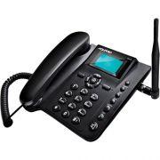 Telefone Celular de Mesa Quadriband CA40 Preto Aquario