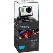 Câmera Digital e Filmadora Gopro HERO3+ Black Edition Adventure CHDHX-302 Prata/Preto 12 MP, Wi-Fi