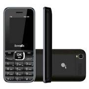 Celular Rural Lemon Sensi Mobile Dual Chip Preto - Conexão 2g, Bluetooth, Botão Sos