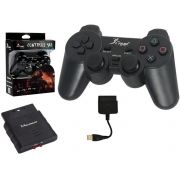 Controle Dualshock Analogico PS2 e 3 PC USB Wireless 2.4G KP-5423 KP-5423 KNUP