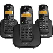 Telefone sem Fio com Identificador de Chamadas + 2 Ramais TS3113 Preto
