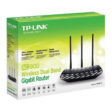 Roteador Wireless Dual BAND 2.4/5 GHZ com 3 Antennas Gigabit AC900 ARCHER C2 (eu)  - skalla magazine