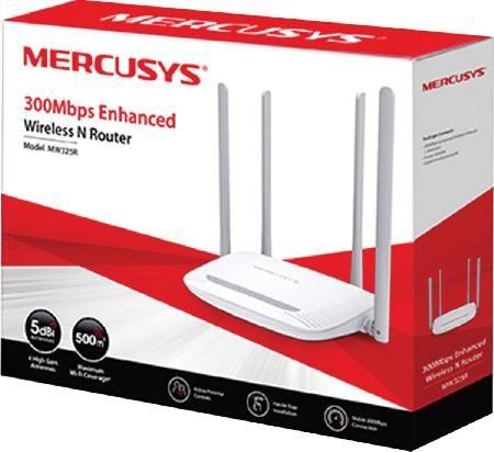 Roteador Wireless N 300MBPS 4 Antenas Fixas 5 DBI MW325R  - skalla magazine
